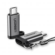 UGrönUGreen USB Type C micro USB adapter Grå