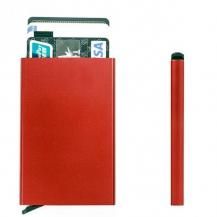 A-One BrandRFID Blocking Credit Card Pop-up Korthållare - Röd