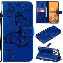 OEMFjärilar Plånboksfodral iPhone 13 Pro - Blå
