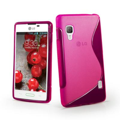 FlexiCase Skal till LG Optimus L5 II - E460 - (Magenta)