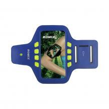 A-One BrandRomix Universalt Sportarmband med reflexer upp till 4.7'' - Blå