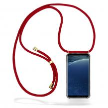 CoveredGear-NecklaceCoveredGear Necklace Case Samsung Galaxy S8 - Maroon Cord