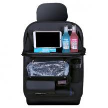 A-One BrandUniversal konstläder iPad-hållare för bilens baksäte med flera fack
