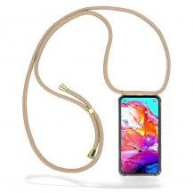 CoveredGear-NecklaceCoveredGear Necklace Case Samsung Galaxy A70 - Beige Cord