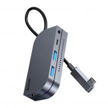 BASEUSBaseus 6in1 USB Type C multifunktionel HUB kort läsare Grå