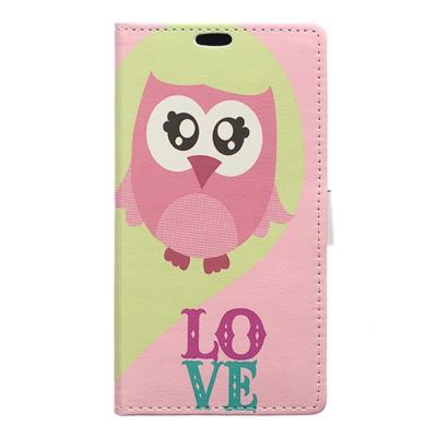 Plånboksfodral till LG V10 - Rosa Uggla
