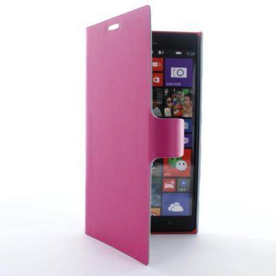 Doormoon Äkta Läder väska till Nokia Lumia 1520 (Magenta)