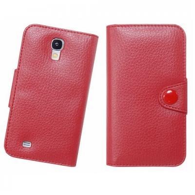 Doormoon embossed Plånboksfodral till Samsung Galaxy S4 i9500 (Röd)