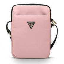 "GuessGuess Väska 10"" Nylon Triangle Logo - Rosa"