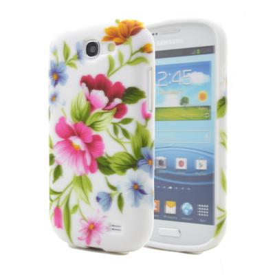 FlexiSkal till Samsung Galaxy Express (Rosa Vit Blomma)