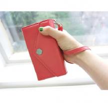OEMPoste Smart Fold plånbok-mobilväska - Korall