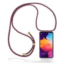 CoveredGear-NecklaceCoveredGear Necklace Case Samsung Galaxy A50 - Red Camo Cord