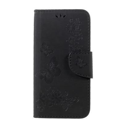Plånboksfodral till Samsung Galaxy S8 - Svart Fjäril