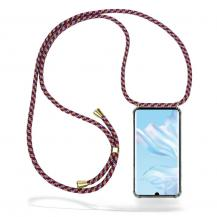 CoveredGear-NecklaceCoveredGear Necklace Case Huawei P30 Pro - Red Camo Cord
