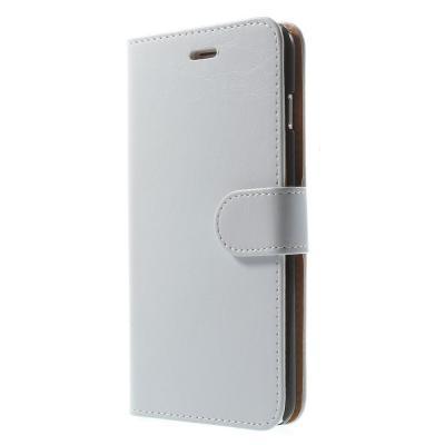 Glossy Crazy Horse Plånboksfodral till Apple iPhone 6(S) Plus - Vit