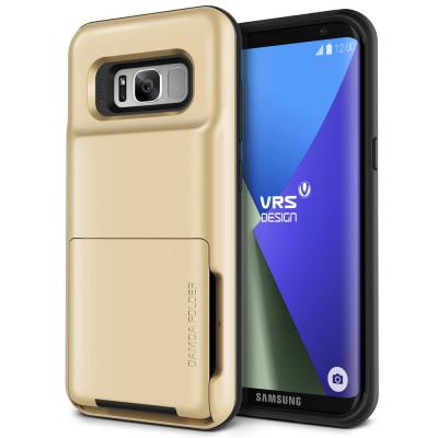 Verus Damda Folder Card Slot Skal till Samsung Galaxy S8 - Gold