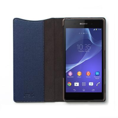Zenus Metallic Diary Väska till Sony Xperia T2 - Navy