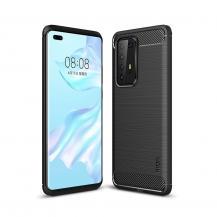 A-One BrandCarbon Fiber mobilskal till Huawei P40 Pro - Svart