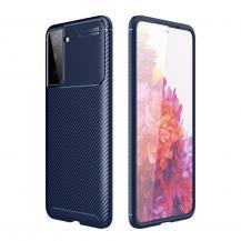 A-One BrandCarbon Fiber Mobilskal till Samsung Galaxy S21 Ultra - Blå