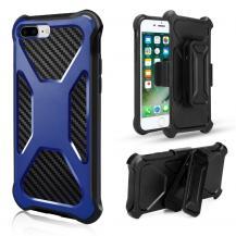 A-One Brand2-in-1 mobilskal med bältesfodral till iPhone 8 Plus / 7 Plus - Blå