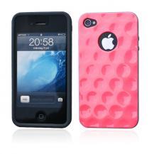 A-One BrandBaksideskal Circles till iPhone 4S/4 (Magenta)