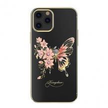 KingxbarKingxbar Butterfly Series Shiny iPhone 12/12 Pro Skal Guld