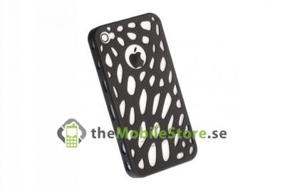 Perforated Baksideskal till iPhone 4S/4 (Svart )