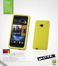 SeepooSeepoo Silikonskal till HTC One (M7) (Gul) + Skärmskydd