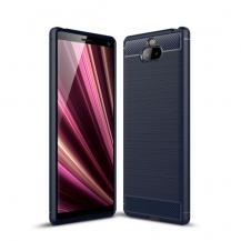 TaltechKolfiberskal för Sony Xperia 10 - Mörkblå