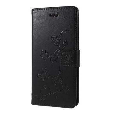 Plånboksfodral till Sony Xperia XZ2 - Svart Fjäril