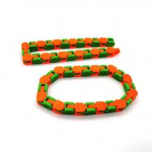 A-One BrandWacky Tracks - Sensory Fidget Toy - Grön/Orange