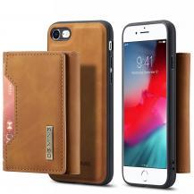 DG.MINGiPhone 7/8/SE 2020 Skal DG.MING Magnetic Tri-fold Wallet Med Kickstand - Brun