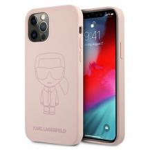 KARL LAGERFELDKarl Lagerfeld Skal iPhone 12 Pro Max Silicone Ikonik Outline - Rosa
