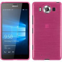 OEMBrushed Flexicase Skal till Microsoft Lumia 950 - Magenta