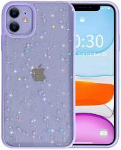 A-One BrandBling Star Glitter Skal till iPhone 12 Mini - Lila