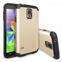 RearthRingke Double Layer Armor Skal till Samsung Galaxy S5 (Gold)