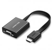 UgreenUGreen HDMI VGA micro USB/audio 3,5 mm mini jack adapter Svart