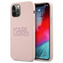 KARL LAGERFELDKarl Lagerfeld Skal iPhone 12 Pro Max Silicone Stack Logo - Rosa