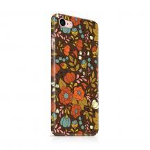 Skal till Apple iPhone 7/8 - Retro Blommor - Brun