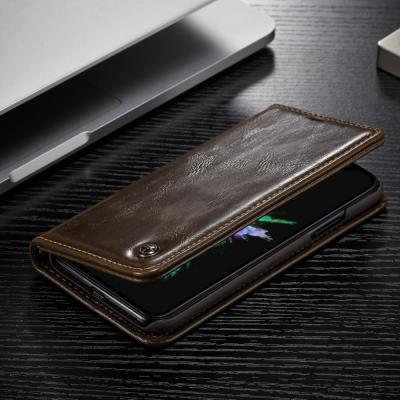 Caseme Oil Wax Plånboksfodral till Apple iPhone XS / X - Brun