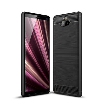 Carbon Brushed Mobilskal till Sony Xperia 10 Plus - Svart