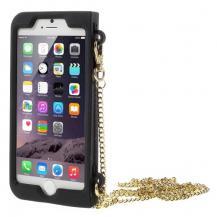 OEMMobilväska till iPhone 6 / 6S med guldkedja - Red Lip/Mustache