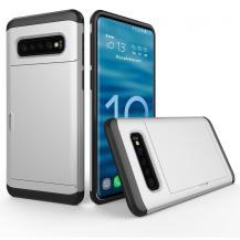 A-One BrandHybrid Armor med Kortplats till Samsung Galaxy S10E - Silver