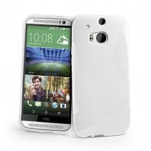 A-One BrandFlexiSkal till HTC One (2014) - Vit