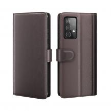 A-One BrandGenuine Split Plånboksfodral Galaxy A52 5G - Brun