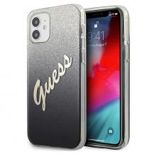 GuessGuess Skal iPhone 12 Mini Glitter Gradient Script - Svart