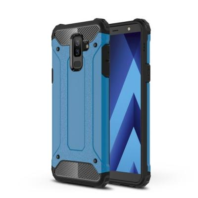 Hybrid Armor Mobilskal Till Samsung Galaxy A6 Plus (2018) - Blå