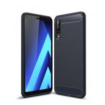 OEMCarbon Brushed Flexicase Skal till Samsung Galaxy A7 (2018) - Blå
