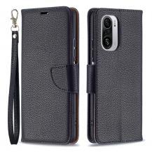 A-One BrandLitchi Plånboksfodral till Xiaomi Mi 11i / Poco F3 - Svart