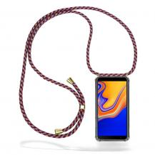 CoveredGear-NecklaceCoveredGear Necklace Case Samsung Galaxy J4 Plus - Red Camo Cord
